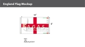 England Flags 6x10 foot