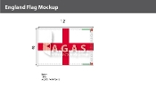 England Flags 8x12 foot