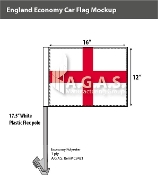 England Car Flags 12x16 inch Economy