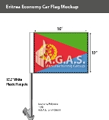 Eritrea Car Flags 12x16 inch Economy