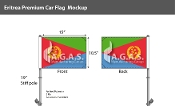 Eritrea Car Flags 10.5x15 inch Premium