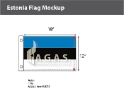 Estonia Flags 12x18 inch