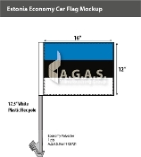 Estonia Car Flags 12x16 inch Economy