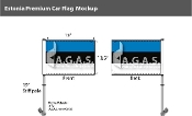 Estonia Car Flags 10.5x15 inch Premium