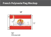 French Polynesia Stick Flags 12x18 inch