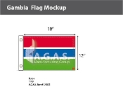 Gambia Flags 12x18 inch