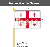 Georgia Stick Flags 12x18 inch