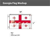 Georgia Flags 12x18 inch