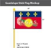 Guadeloupe Stick Flags 12x18 inch