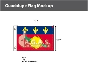 Guadeloupe Flags 12x18 inch