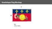 Guadeloupe Flags 8x12 foot