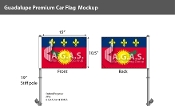 Guadeloupe Car Flags 10.5x15 inch Premium