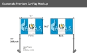 Guatemala Car Flags 10.5x15 inch Premium (with seal)