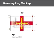 Guernsey Flags 12x18 inch