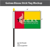 Guinea Bissau Stick Flags 4x6 inch