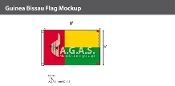 Guinea Bissau Flags 5x8 foot