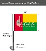 Guinea Bissau Car Flags 12x16 inch Economy