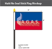 Haiti Stick Flags 4x6 inch (no seal)