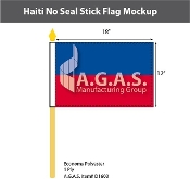 Haiti Stick Flags 12x18 inch (no seal)