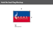 Haiti Flags 4x6 foot (no seal)