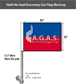 Haiti Car Flags 12x16 inch Economy (no seal)
