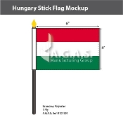 Hungary Stick Flags 4x6 inch