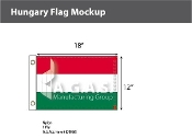 Hungary Flags 12x18 inch