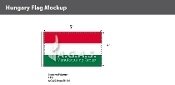 Hungary Flags 3x5 foot