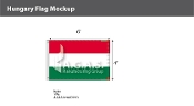 Hungary Flags 4x6 foot