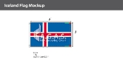 Iceland Flags 3x5 foot