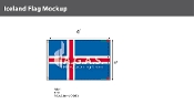 Iceland Flags 4x6 foot