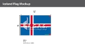 Iceland Flags 8x12 foot