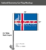 Iceland Car Flags 12x16 inch Economy