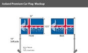 Iceland Car Flags 10.5x15 inch Premium