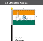 India Stick Flags 4x6 inch