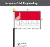 Indonesia Stick Flags 4x6 inch