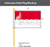 Indonesia Stick Flags 12x18 inch