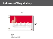 Indonesia Flags 12x18 inch