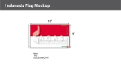 Indonesia Flags 6x10 foot