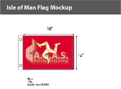 Isle of Man Flags 12x18 inch