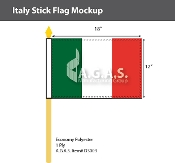 Italy Stick Flags 12x18 inch