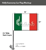 Italy Car Flags 12x16 inch Economy