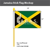 Jamaica Stick Flags 12x18 inch
