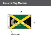 Jamaica Flags 12x18 inch