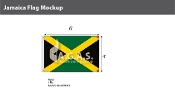 Jamaica Flags 4x6 foot