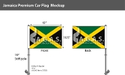 Jamaica Car Flags 10.5x15 inch Premium