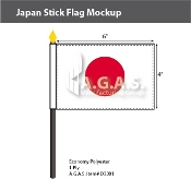 Japan Stick Flags 4x6 inch