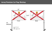 Jersey Car Flags 10.5x15 inch Premium