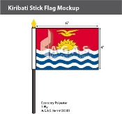 Kiribati Stick Flags 4x6 inch