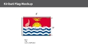 Kiribati Flags 2x3 foot